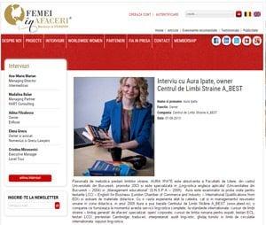 Femei in afaceri - interviu Centrul de limbi straine A_best
