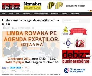 Limba româna pe agenda expatilor editia a IV a