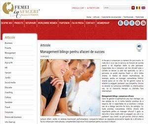 Management bilingv pentru afaceri de succes