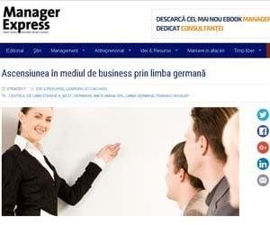 Ascensiunea în mediul de business prin limba germana MANAGER EXPRESS