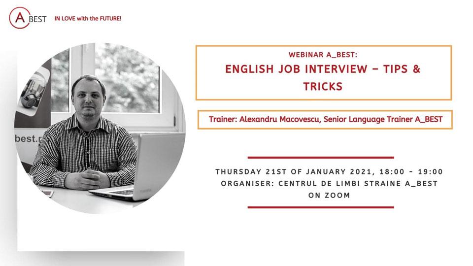 Webinar English Job Interview